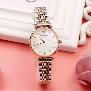 EMPORIO ARMANI Mother Of Pearl Dial Ladies Watch